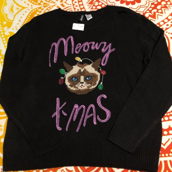 Cat Christmas Sweater.Nwt Cat Christmas Sweater Nwt